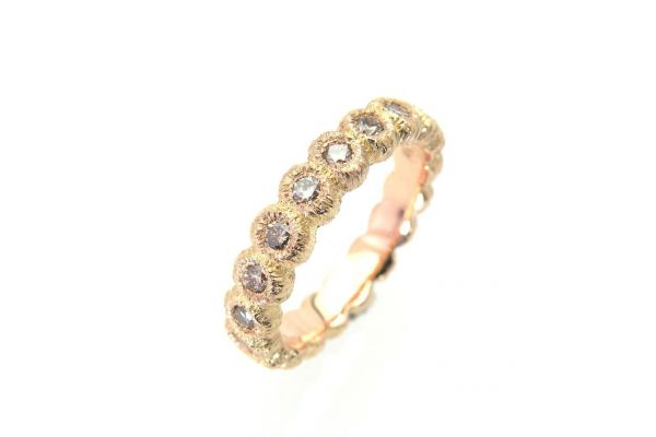 2828 Alliance Ring 750 Rotgold 19 Brillanten naturfarbig brau total 0.75ct