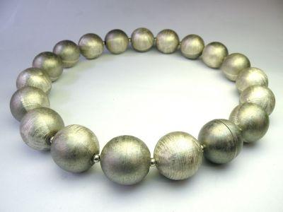 925 Silbercollier vergoldet 2