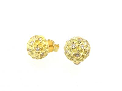 Nr.2161 - Ohrstecker in 750 Gelbgold mit 20 Brillanten total 0.13ct Tw vs