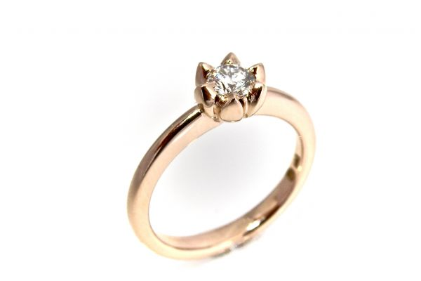 Art.-Nr. 2937 750 Rotgold Solitär Brillant 0.30ct Tw (F) vs1